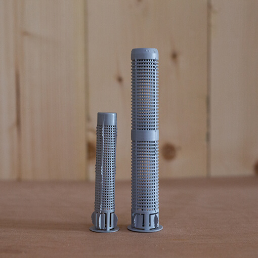 Dowel for 2 component adhesive
