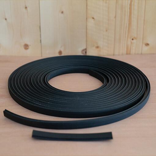 Rubber tape for terrace board ventilation